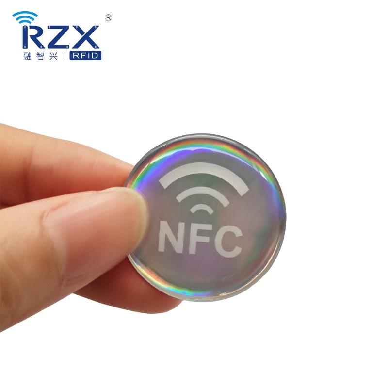 镭色NFC滴胶卡