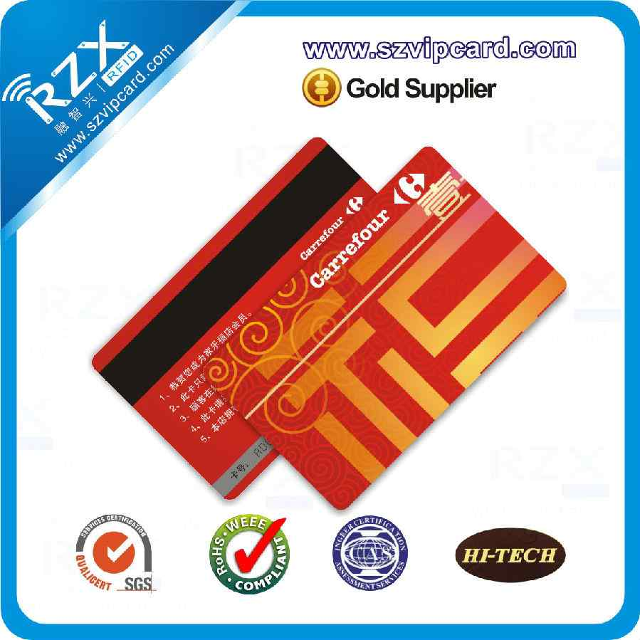 2750 OE magnetic stripe card