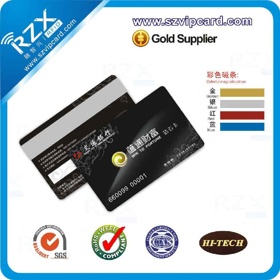 gold/ silver/ blue/ red magnetic stripe card