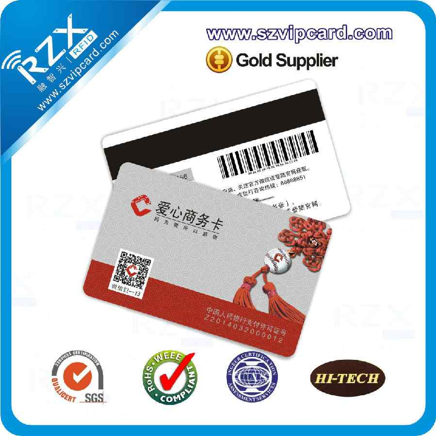 KURZ magnetic stripe card