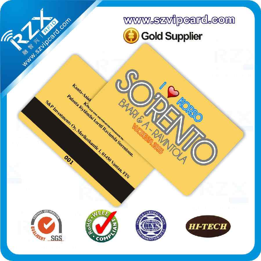 4000 OE magnetic stripe card